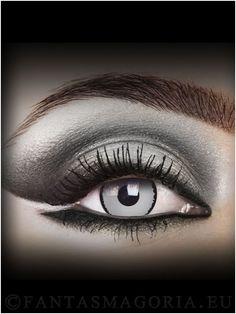 Grim Reaper contact lenses - Black&Gray (pair)