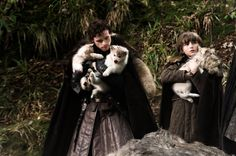 Remember when the Stark kids found the direwolves? #gameofthrones #wolf #direwolves