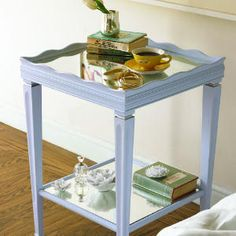 Surprising salvage makeovers | After: Glammed-up table