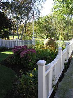 white picket fences, landscape architecture, pool, front yard landscaping, front yards, flower beds, landscape designs, garden, fence design