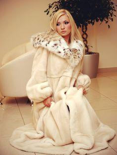 mink & lynx fur coat