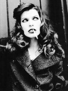 Girl Smoking Long Curly Hair