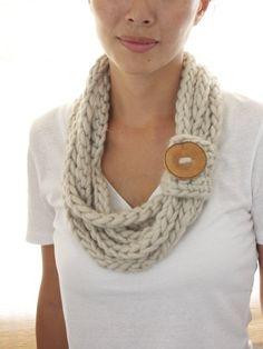 crochet scarf crochet collars, homemade crochet scarf, button, infinity scarfs, wood slices, crocheted scarfs, knit scarves, yarn, crochet scarfs