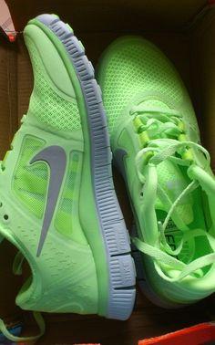 neon mint nike sneakers