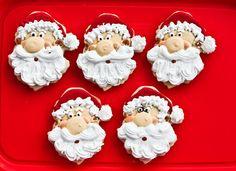 Santa Claus Royal Icing Cookies