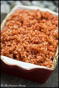 Clean Eating Spanish Rice  www.TheGraciousPantry.com