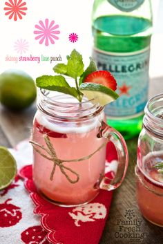 Skinny Strawberry Lime Punch