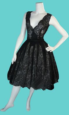 Vintage 1960s Boutique  Couture Christian Dior Paris  Numbered all Lace Dress