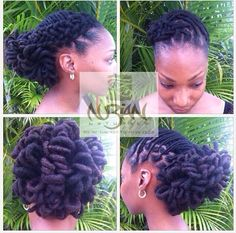 LOC UPDO. To learn how to grow your hair longer click here - blackhair.cc/1jSY2ux locks hairstyles, natur hair, loc updo styles, hair styles locs, dreadlock, hair treatments, hair care, loc hair styles, loc style