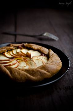 Apple, Cheddar and Caramelized Onion Galette - Savory Simple