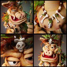"""""""Jungle Pig"""" puppet by Norman Schneider"""