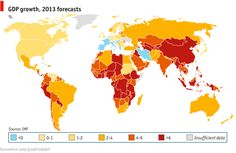 Poor little rich countries - The Economist: The outlook for economic growth in the West is bleak, according to the IMF's latest World Economic Outlook, released on April 16th. Worldwide output is expected to grow at just over 3% in 2013, but rich countries will lag behind, expanding at 1.2%. Growth in emerging markets, by contrast, will exceed 5%, with Asia and sub-Saharan Africa motoring along at 7% and 5.6% respectively.