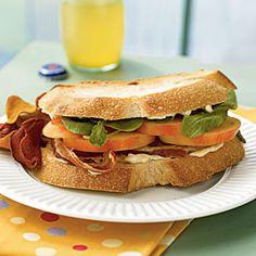 22 Healthy Lunch Ideas | Mr. Stripey Tomato, Arugula, and Pancetta Sandwiches | CookingLight.com