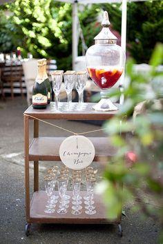 Champagne Bar Cart .