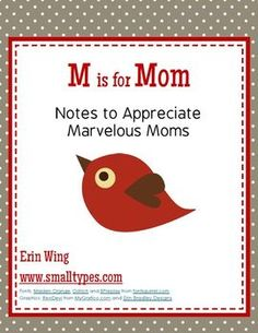 Use these free printables for kids to write a note of appreciation to their mothers.