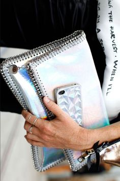 Pinspiration - Silver stella clutch