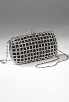 Handbags - Metal and Rhinestone Cage Handbag from Camille La Vie and Group USA