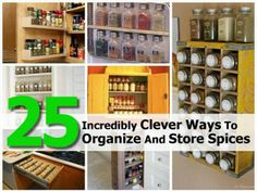 25 incred, store spice, kitchen idea, incred clever, organ, spice store, diy project, cuisin, spices