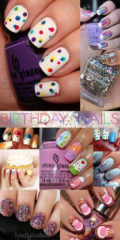 Birthday Nail Art Nailspiration <3