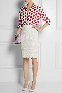 Burberry Prorsum|Polka-dot linen shirt|NET-A-PORTER.COM