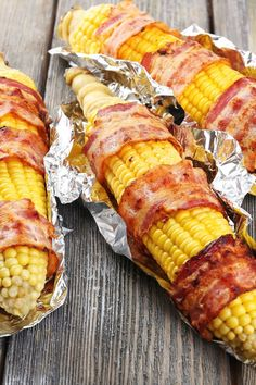bacon wrapped corn on the cob recipe yummly grilled bacon wrapped corn ...