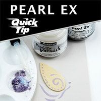 craft, polymer clay tutorials, pearls, art, quick, card, polym clay, pearl ex, emboss