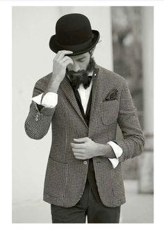 beards, 1911 autumnwint, lbm 1911, bow ties, men fashion, look books, autumnwint 2013, pocket squares, hat