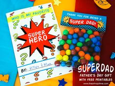 hero dad, fathers day super hero, diy crafts, father day, craft tutorials, fathers day gifts, free printabl, fathers day cards, superdad father