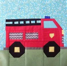 Fire Truck Baby Quilt Pattern | ... TRUCK_PAPER_PIECING_QUILT_BLOCK_PATTERN_PDF_-102A/Patterns/Quilts