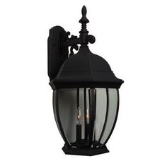 Craftmade Z584 Traditional / Classic Three Light Up Lighting Large Outdoor Wall Sconce from the, Matte Black by Craftmade. $117.00. Three Light Large Outdoor Wall Sconce from the Bent Glass Collection Three light up lighting large outdoor wall sconce Featuring clear beveled glass Requires 3 60w Candelabra base bulbs (not included) Cast Aluminum