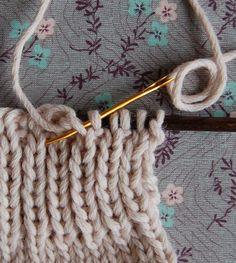 Tutorial for a bind off by Elizabeth Zimmermann.