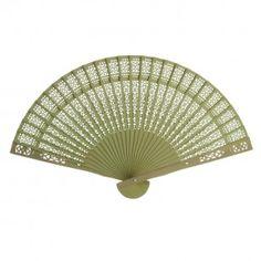 Sandalwood Fan Favors BULK - Lime Green