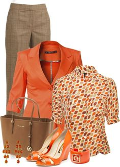 Orange spring fashion; Orange is the new black, cheerful!