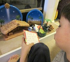Christmas story plus find & fill nativity scene game.