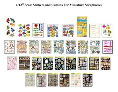 Scrapbook Printies - Website devoted to 1/12th scale miniature dollhouse printables (printies)!
