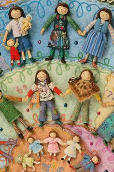 The most amazing Sally Mavor, go check our her work, pronto! fashion, craft, fairies, felt, salley mavor, fabric artist, self portraits, textil, blog