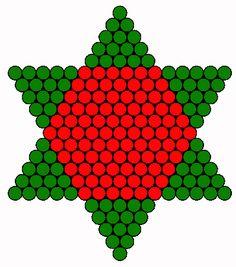 Christmas tree star back perler bead pattern