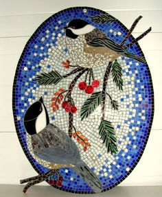 Blue Heron Stained Glass Mosaic