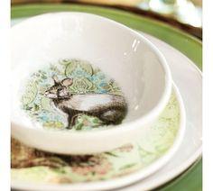 Bunny egg plates