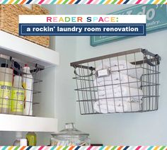 IHeart Organizing: Reader Space: A Rockin' Laundry Room Renovation laundry rooms, reader space, iheart organizing, laundri room, room renov