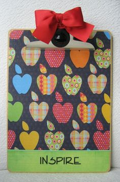 Make with scrapbook paper and modge podge?