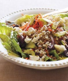 Barley and Lentil Salad With Goat Cheese Recipe from realsimple.com. #myplate #veggies #wholegrain