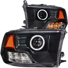2010 Dodge Ram Projector Headlights Black CCFL Halo