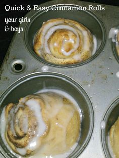Quick and Easy Cinnamon Rolls (using crescent roll dough!)