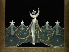 Moon & Stars by Erte