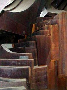 Steel stair - Robert Bruno's house near Lubbock , TX