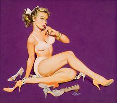 classicvintag pinup, girl master, freeman elliott, classic pinup, pinup artist, pinup girl, cartoon pinup, vintageretropinup pic, shoe