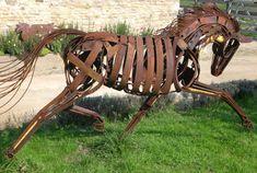 hors, metalart, metal sculptur, metal work, yard art, scrap metal, recycl art, metal art, recycled art
