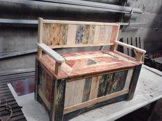 pallet storage bench #Bench, #Pallet, #Storage