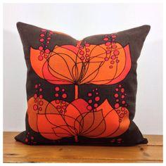 60s Vintage Retro Rio Boras Fabric Cushion Cover Helene by Retro68, £24.00 fabric cushion, vintag retro, vintage, cushion covers, cushions, oranges
